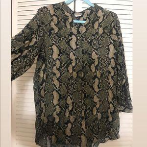 H&M SNAKE PRINT SHIRT DRESS
